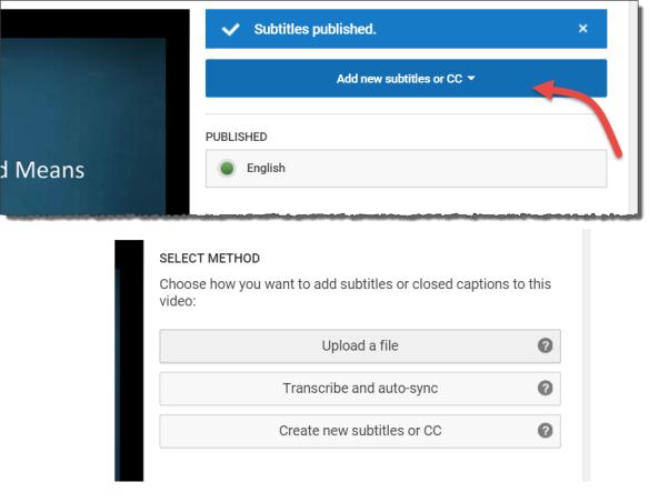 YouTube Closed Captioning screenshot